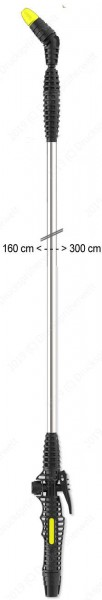 T300 Sprühlanze bis 3m ausziehbar, die lange Lanze ist bis 5 m kombinierbar