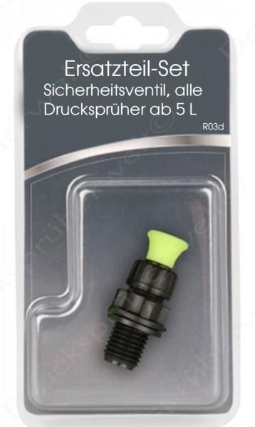 Sicherheitsventil für Drucksprüher mit EPDM Dichtung